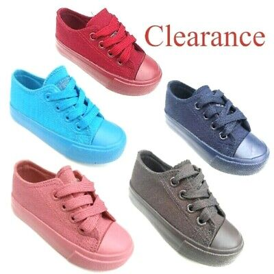 Toddler Kids boys girls sneakers canvas shoes 7-10 Clearance](Clearance Girl Shoes)