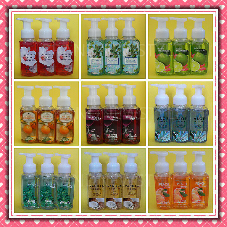 3 Bath & Body Works Gentle Foaming Hand Soap 8.75 fl oz/259
