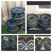 Used 15 inch and 16 inch steel winter rims