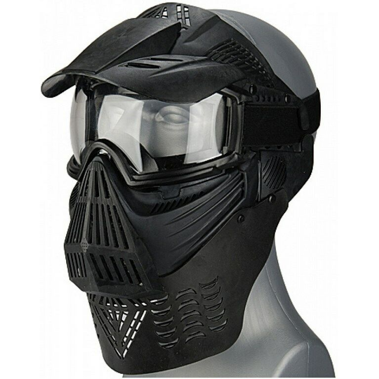 EZ FIT AIRSOFT PAINTBALL FULL FACE MASK CLEAR LENS Vented Helmet Goggles Eye