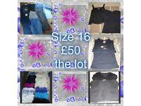 ladies clothes size 16--can split
