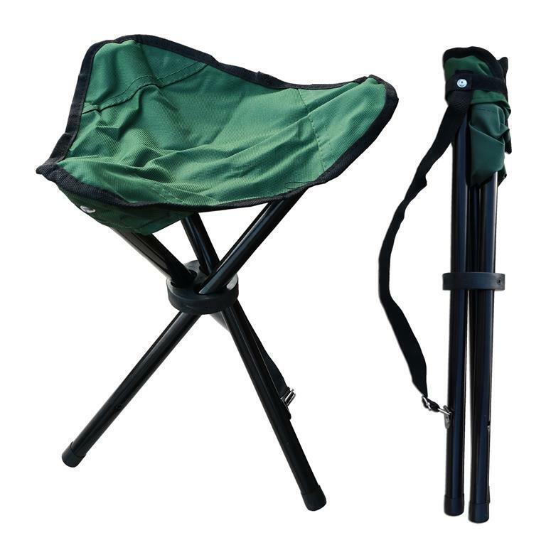 Campinghocker grün Dreibein bis 100 kg Angelhocker