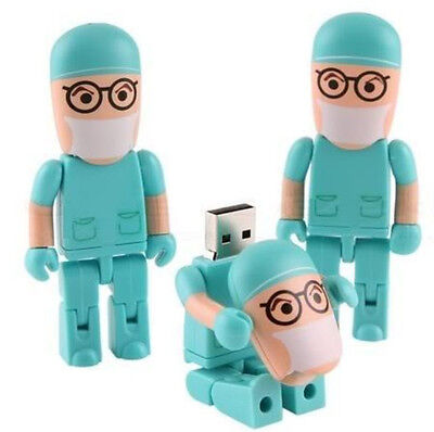 16GB Blue Doctor Cartoon USB 2.0 Flash Memory Stick Drive Pen key on Rummage