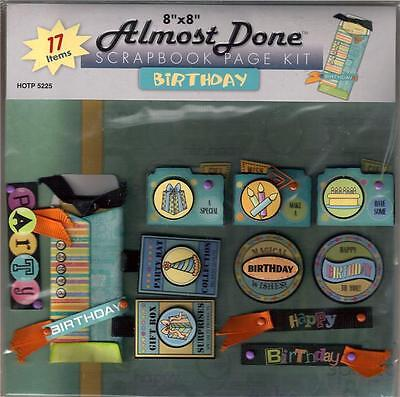 *BIRTHDAY* ALMOST DONE SCRAPBOOKING PAGE KIT RV $8 (Almost Done Kit)