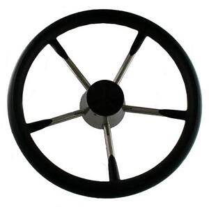 Schmitt-Destroyer-style-with-foam-coat-ring-Boat-Steering-Wheel-marine-use-only