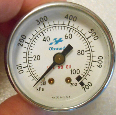 100 Psi 0-100 100-700 Kpa Ohmeda Medical Pressure Gauge New Old Stock 18 Npt Us