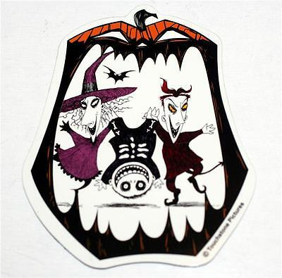 "NIGHTMARE BEFORE CHRISTMAS Witch and Demon RUBBER CAR REF MAGNET 4-1/2"" Tall New"