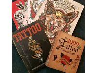 Assorted tattoo books
