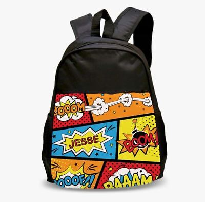 Personalized Comic Strip Kids Backpack - Personalized Kids Back Packs
