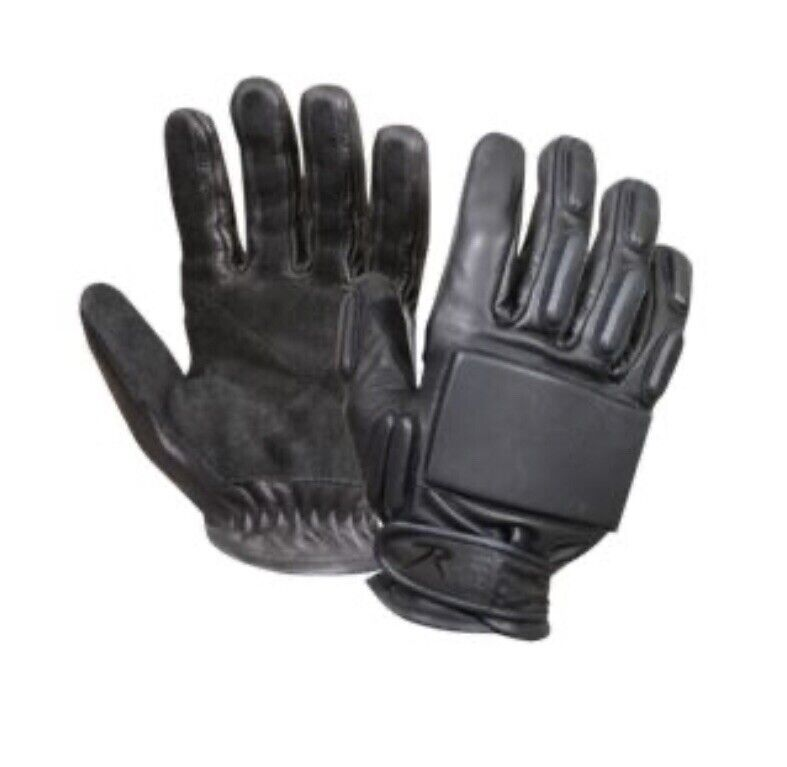 New Rothco Black Leather Tactical Rappeling Gloves Size Small Padded Knuckles