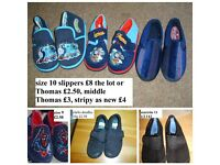 boys slippers, plimsoles and clarks doodles size 9-11 prices on pictures