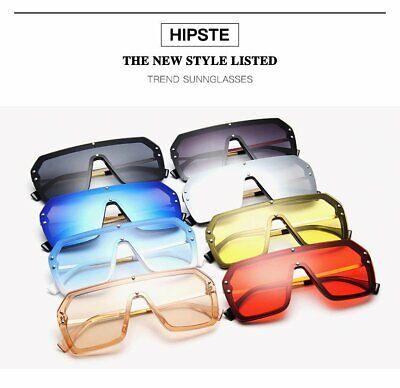 Women Oversized Retro Square Sunglasses Designer Men Shades Hipster Fashion (Hipster Fashion For Women)