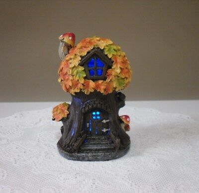 Halloween Tree House Decoration Battery Operated Resin Flashing Multi -