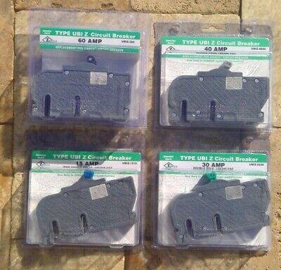 Zinsco Type Ubi Z 15 30 40 50 60 Amp Circuit Breaker 120240 Vac