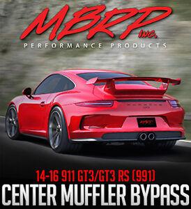 MBRP Center Muffler Bypass - 2014-2016 Porsche 911 GT3/GT3RS