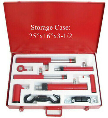 2-10 Ton Air Hydraulic Cylinder Ram Portable 11 Pc Set