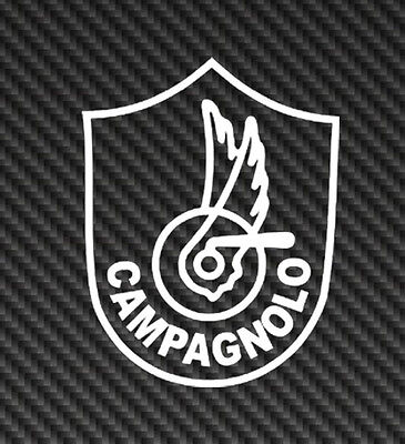 Campagnolo in Black on Celeste Chain guard decal