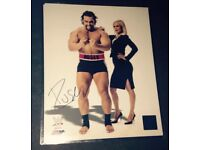 wwe rusev signed official promo 8x10 proof
