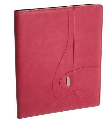 New Buxton Pink Faux Leather Writing Pad Folio St574006.pk E10-c Free Ship