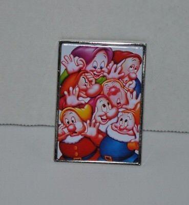 DISNEY Store USA Seven Dwarfs Frame Pin 2001 RETIRED Snow White 7 Dwarves 6086