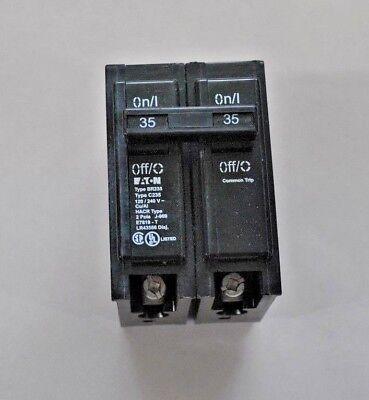 Br235 Cutler Hammer Circuit Breaker 2 Pole 35 Amp 120240v New