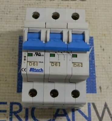 Altech R Series Supplementary Protector 3 Pole D6