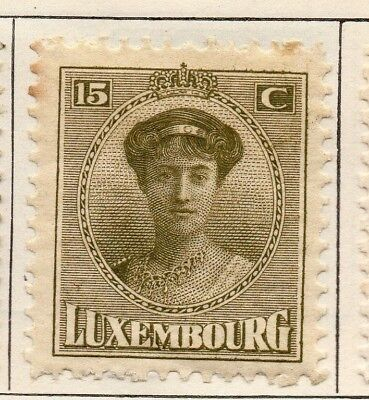 Luxembourg 1921 Early Issue Fine Mint Hinged 15c. 147013
