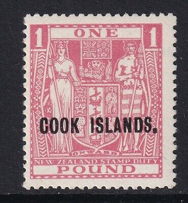 Cook Islands KGVI 1943-54 £1 pink  SG134 - lightly mounted mint