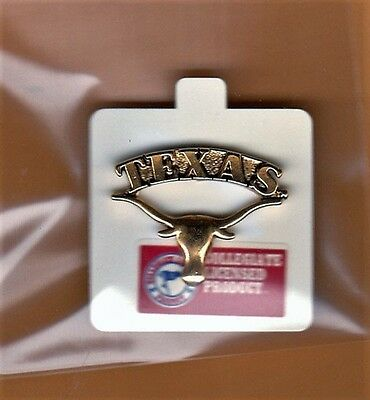 UNIVERSITY of TEXAS LONGHORNS LAPEL PIN UNSOLD STOCK NCAA LICENSED  ()