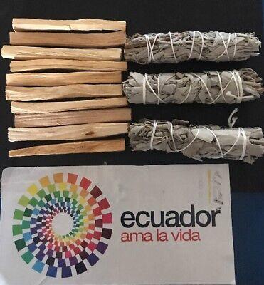 10 Palo Santo Wood & 3 White Sage Smudge Sticks: Cleansing Negativity Removal