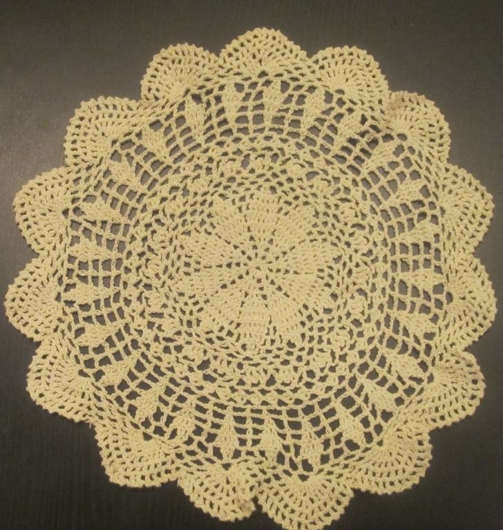 Купить 6 PCS 12 Round   Crochet Lace Doily COLOR BEIGE 100 % COTTON
