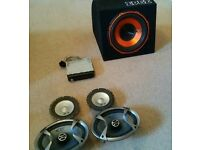 Kenwood radio, 4 Alpine speakers and VIBE 900w subwoofer