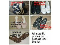 ladies shoes size 5 description and prices on picture