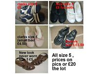 ladies shoes size 5 description and prices on picture collection from didcot