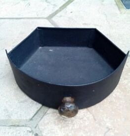 Cast Iron Ash Pan (vintage) insert with brass handle