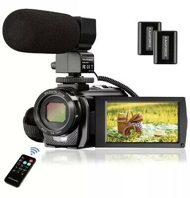 Video Camera Camcorder FHD 1080P 30FPS 24MP YouTube Camera with Microphone 3.0