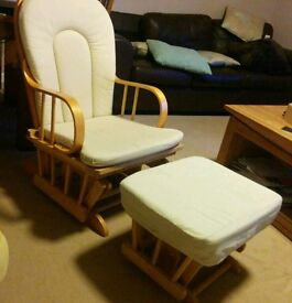Rocking chair and footstool