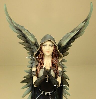 ANNE STOKES HARBINGER Dark Angel of Death Gothic Fairy Statue Hand Painted
