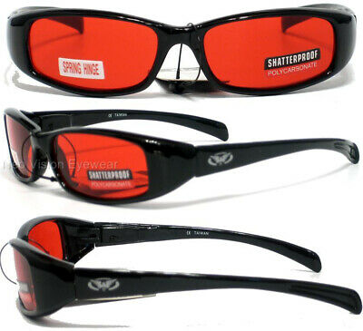 New Attitude Red Lens Glossy/Black Sunglasses Spring Assisted Temples (Attitude Sunglasses)