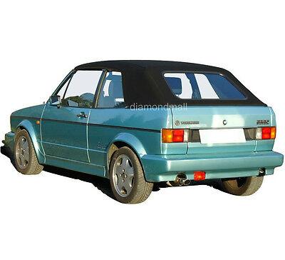 - VW Volkswagen Rabbit Cabriolet Golf 1980-94 Convertible Soft Top Black Stayfast