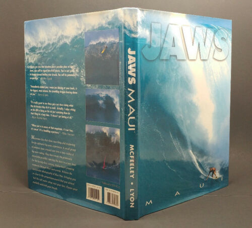"""Jaws Maui"" Book, Photog Patrick McFeeley, Signed! Huge! 227 pgs, Peahi, Laird"