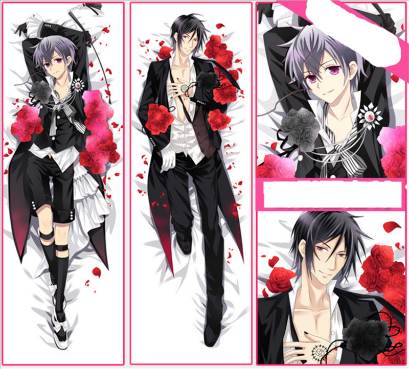 Dakimakura Anime Black Butler kuroshitsuji Hugging Body Male Pillow Case Covers