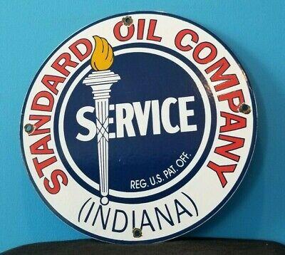 VINTAGE STANDARD OIL COMPANY PORCELAIN GASOLINE SERVICE STATION PUMP PLATE SIGN