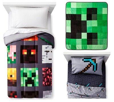 KIDS GIRLS BOYS  MINECRAFT BED IN A BAG / COMFORTER SET - 3 PRINTS - Girls In Minecraft