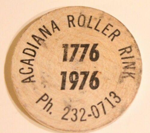 Vintage Wooden Nickel Acadiana Roller Rink 1976