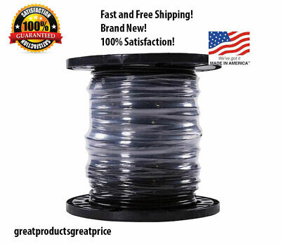 Southwire Simpull 6-awg 500-ft Stranded Black Copper Thhn Electrical Wire New