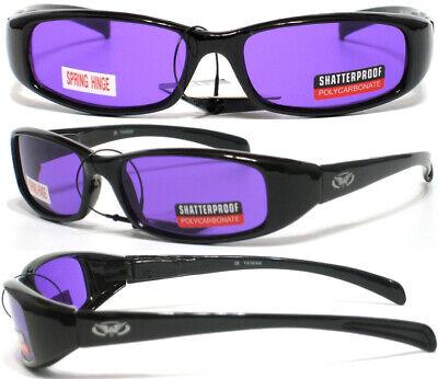 New Attitude Purple Lens Glossy/Black Sunglasses Spring Temples (Attitude Sunglasses)