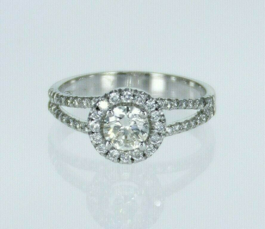 0.78ctw Natural Round Brilliant Diamond Engagement Ring 14k H Color SI2 Clarity