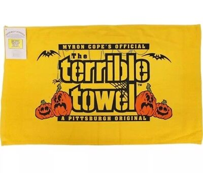 NFL Pittsburgh Steelers Official Gold Halloween Terrible Towel Myron Cope (Pittsburgh Steelers Halloween)