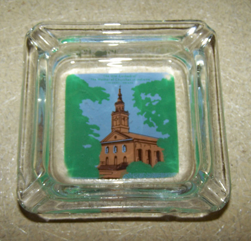 Vintage THE OLD CATHEDRAL Ashtray VINCENNES INDIANA Mother of Churches